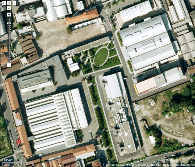 Aerial view of the Bovisa location